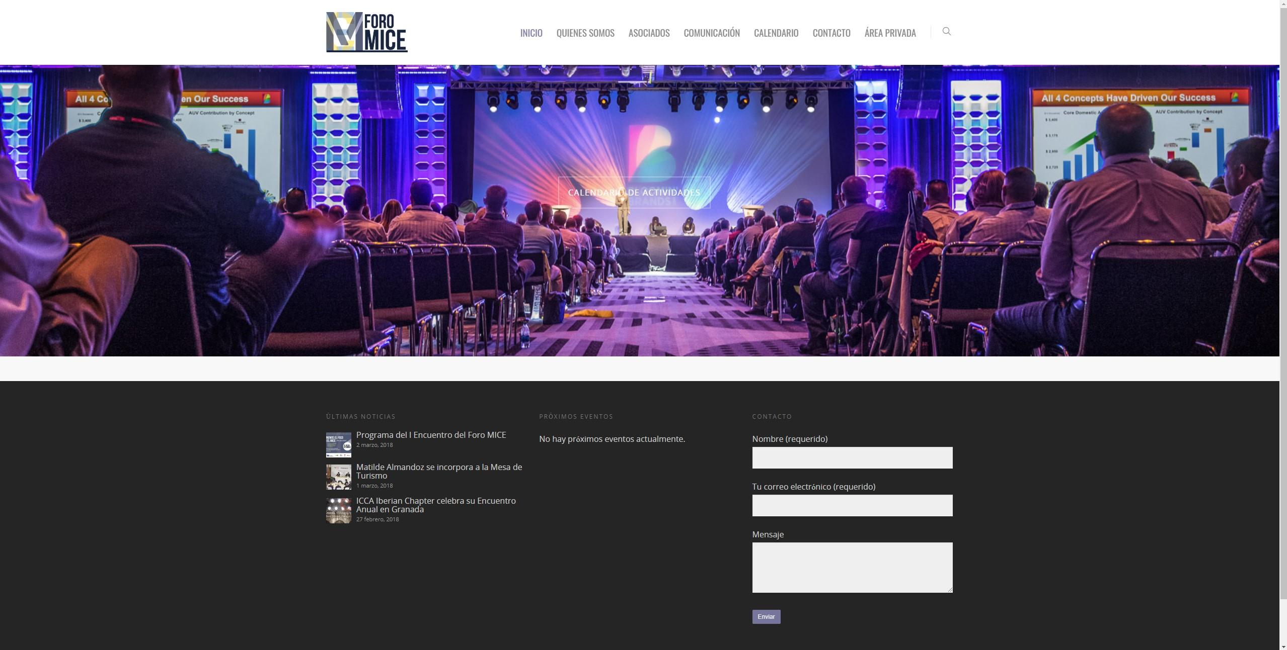 Diseño de página web: Foro MICE