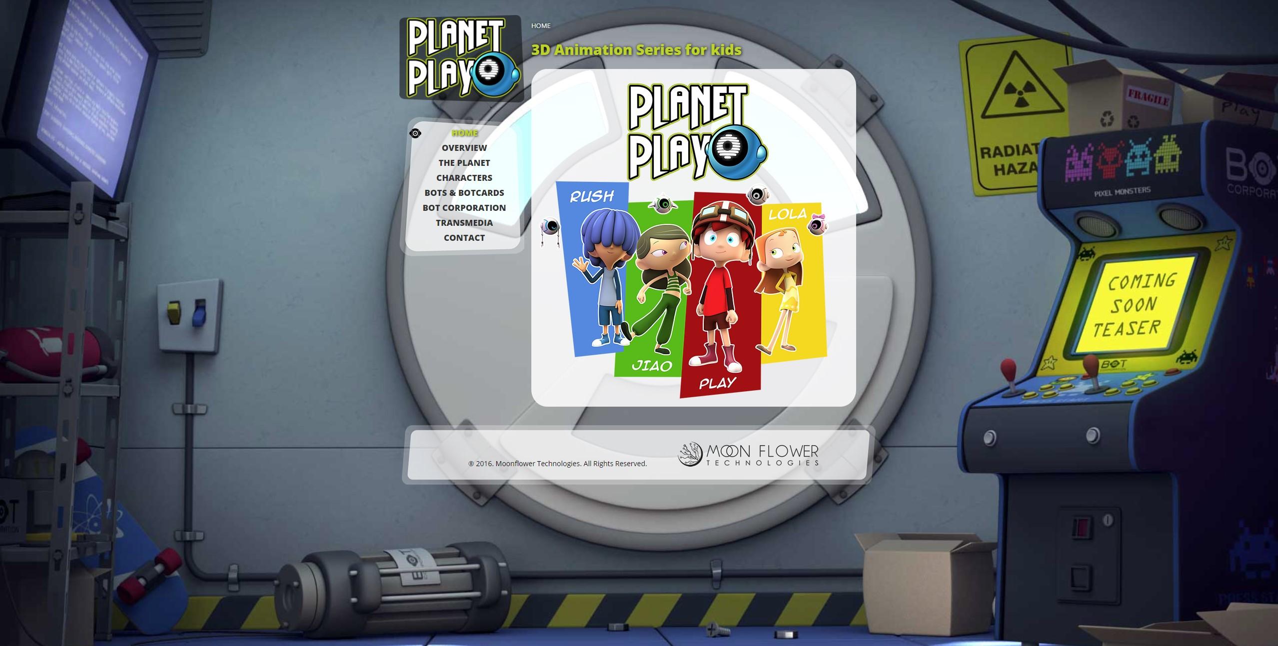 Diseño de página web: Planet Play