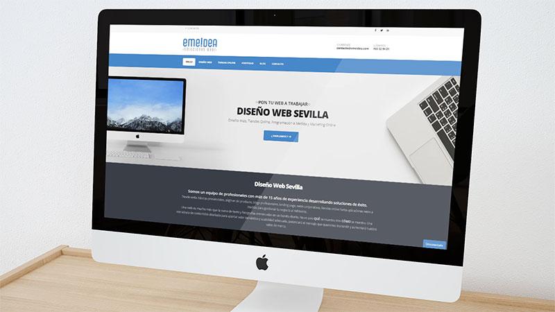 Nuevo diseño de la web de emeidea soluciones web